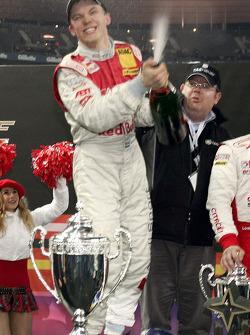 Champagne for Race of Champions winner Mattias Ekström
