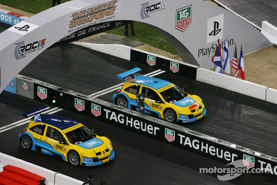 Semi final: David Coulthard and Travis Pastrana