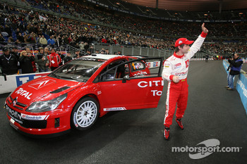 Sébastien Loeb with the new Citroën C4 WRC