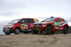 Team Repsol Mitsubishi Ralliart shakedown: Team Repsol Mitsubishi Ralliart DELICA D:5 and Mitsubishi Pajero / Montero Evolution MPR13