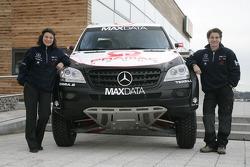 Team MAXDATA Mercedes-Benz presentation in the Unimog Museum in Gaggenau: Ellen Lohr and Antonia de Roissard