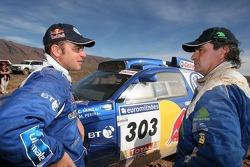 Giniel de Villiers and Carlos Sainz