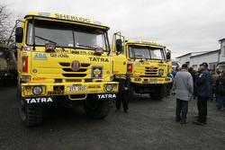 Loprais Tatra Team: Ales Loprais and Petr Gilar leave for Lisbon