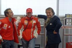 Luca di Montezemelo, Kimi Raikkonen and Luca Badoer