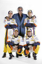 Heikki Kovalainen, Nelson A. Piquet, Riccardo Zonta and Giancarlo Fisichella with Flavio Briatore