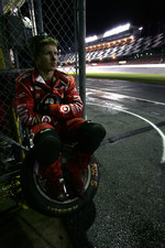 Chip Ganassi crew member wait for a pitstop