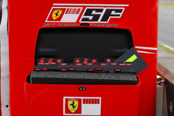 Scuderia Ferrari pitboard numbers and names box including Michael Schumacher