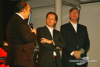 Colin Kolles, Spyker F1 Team, Team Principal, Michiel Mol, Director of Formula One Racing, Spyker and Spyker F1 Team and Victor Muller, Chief Executive Officer of Spyker Cars N.V. and Spyker F1 Team