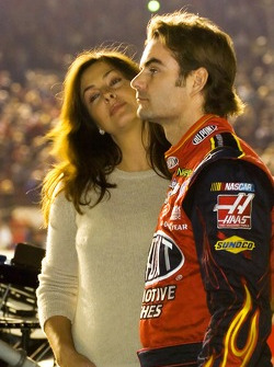 Jeff Gordon and wife Ingrid Vandebosch