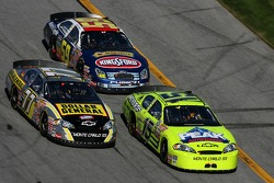 Paul Menard, Bobby Labonte and Marcos Ambrose