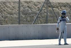 Nick Heidfeld stops on track