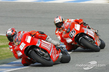 Vittoriano Guareschi and Loris Capirossi