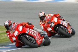 Vittoriano Guareschi and Loris Capirossi