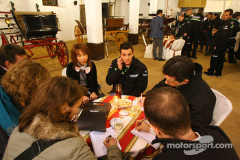 Kawasaki Racing Team: members of the media meet Kawasaki team members