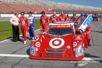 #02 Target Chip Ganassi with Felix Sabates Lexus Riley pushed to pre-grid