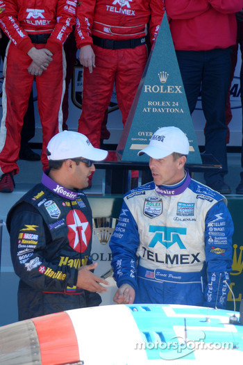 DP Podium: Winners Juan Pablo Montoya and Scott Pruett