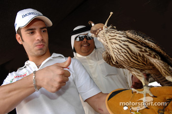 Marco Melandri visits the Qatar