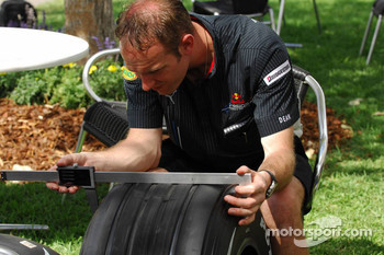 Red Bull Racing, Personnel, Measure the width of Bridgestone tyres