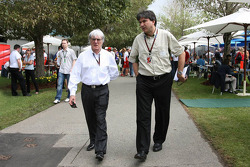 Bernie Ecclestone and Pasquale Lattuneddu, FOM, Formula One Management