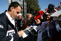 Robert Kubica,  BMW Sauber F1 Team, signs autographs