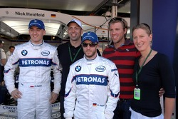 Robert Kubica,  BMW Sauber F1 Team, Nick Heidfeld, BMW Sauber F1 Team, Mark Warnecke, Thomas Rupprath, Annika Lurz, German swimmers