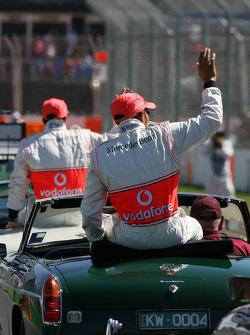 Drivers Parade, Lewis Hamilton, McLaren Mercedes