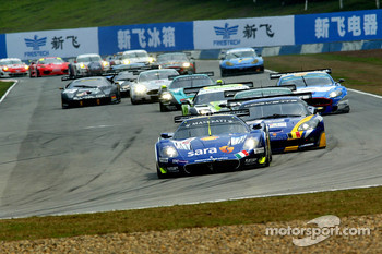 #12 Scuderia Playteam Sarafree Maserati MC 12 GT1: Giambattista Giannoccaro, Alessandro Pier Guidi