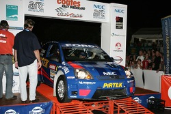 Pirtek Rally Team car number 4 of Michael Guest and Mark Stacey