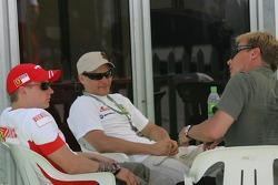 Kimi Raikkonen Scuderia Ferrari and Tony Vilander, FIA GT Driver
