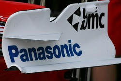 Toyota Racing, TF107, front wing endplate detail
