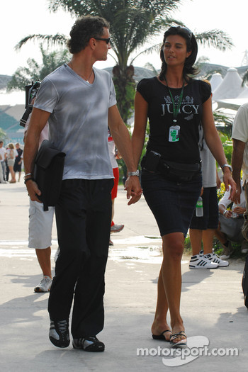 David Coulthard with girlfriend Karen Minier