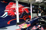 The Scuderia Toro Rosso garage
