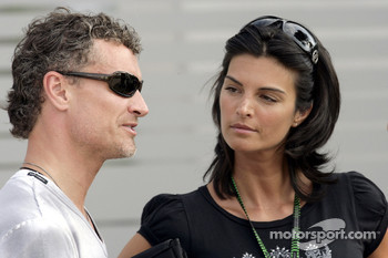 David Coulthard with his girlfriend Karen Minier