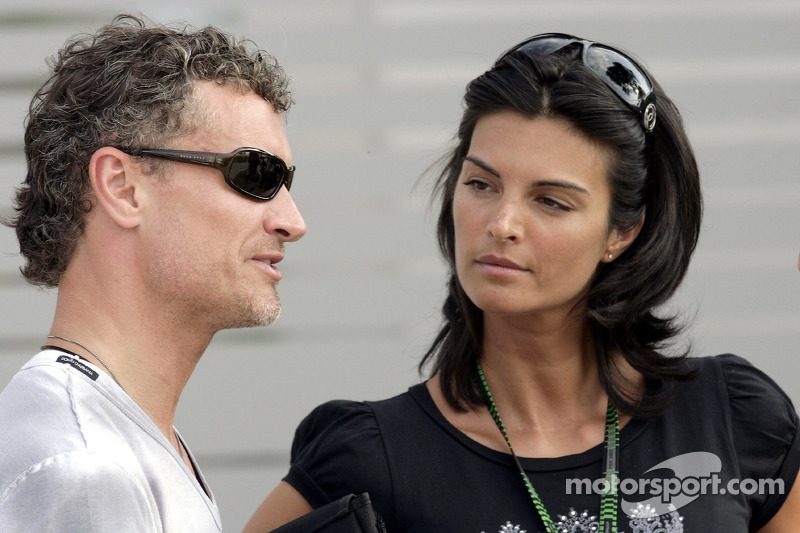 David Coulthard With His Girlfriend Karen Minier At
