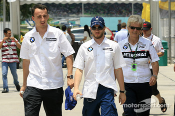 Robert Kubica and Nick Heidfeld, BMW Sauber F1 Team