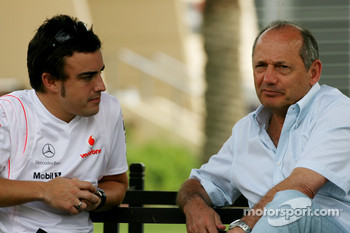Fernando Alonso, McLaren Mercedes and Ron Dennis, McLaren, Team Principal, Chairman