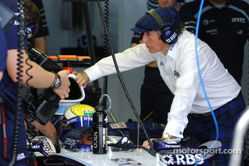 Sir Jackie Stewart and Nico Rosberg, WilliamsF1 Team