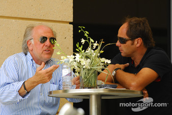 David Richards Chairman and Chief Executice, Prodrive Group and Gerhard Berger, Scuderia Toro Rosso, 50% Team Co Owner