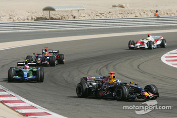 David Coulthard, Red Bull Racing, RB3 and Rubens Barrichello, Honda Racing F1 Team, RA107