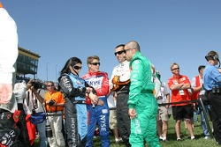 Danica Patrick, Marco Andretti, Dario Franchitti and Tony Kanaan
