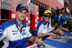 Autograph session: Colin Edwards and Valentino Rossi