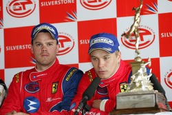 Press conference: GT2 class winners Toni Vilander and Dirk Muller