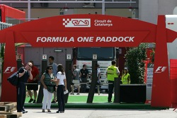Formula 1 paddock entrance