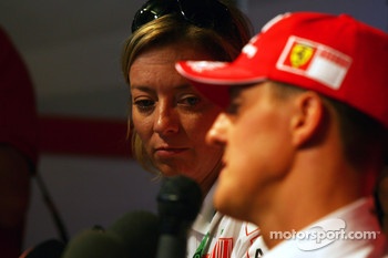 Michael Schumacher, Scuderia Ferrari, Advisor, Press conference, Sabine Kehm, Michael Schumacher's personal press officer