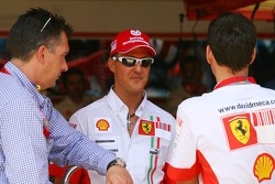Michael Schumacher, Scuderia Ferrari, Advisor and David Meca, Long distance swimmer