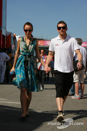 Scott Speed, Scuderia Toro Rosso with his girlfriend