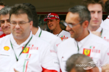 Victory celebrations at Ferrari: Michael Schumacher, Scuderia Ferrari, Advisor