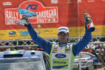 Podium: rally winner Marcus Gronholm