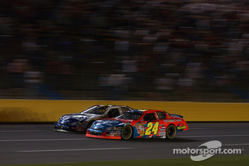 Teammates Jeff Gordon (24) and Jimmie Johnson (48)