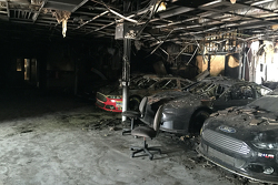 Leavine Family Racing shop fire